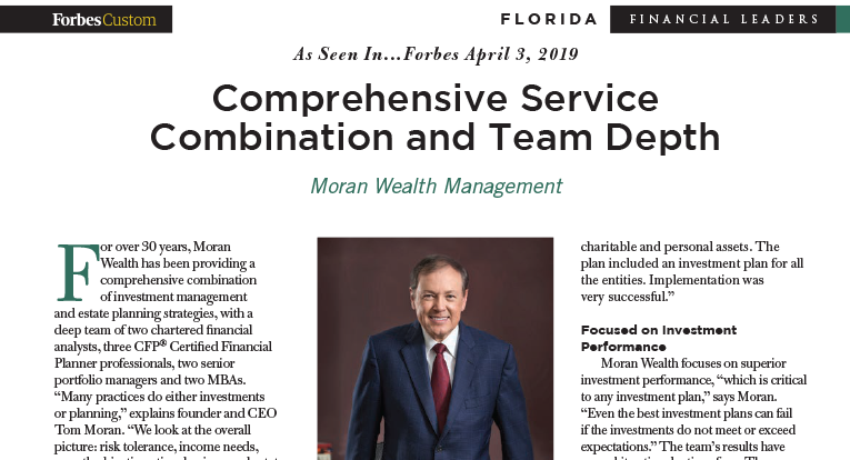 Tom Moran Forbes number 1 in Florida